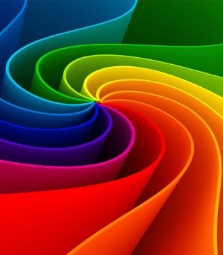 Swirling Rainbow - Obrázkek zdarma pro 360x640