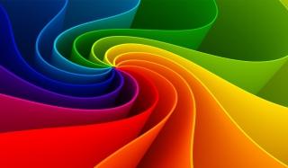 Swirling Rainbow - Obrázkek zdarma pro 1920x1200