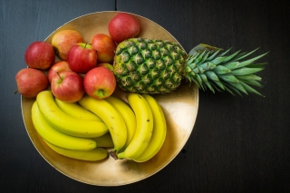 Fruits, pineapple, banana, apples Background for Android, iPhone and iPad