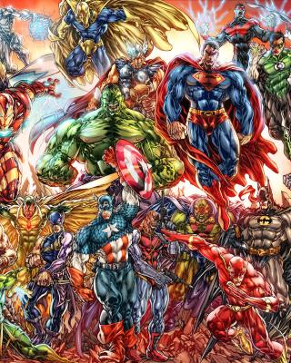 DC Universe and Marvel Comics - Obrázkek zdarma pro Nokia C7