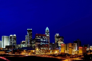 Free Charlotte Skyline in North Carolina Picture for Android, iPhone and iPad
