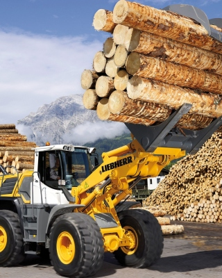 Liebherr Tractor - Obrázkek zdarma pro 360x640