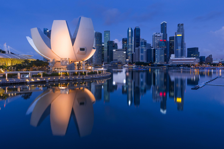 страны архитектура Сингапур ночь  № 1476070 загрузить