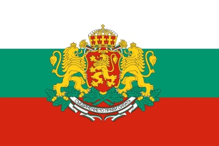 Bulgaria Gerb and Flag Background for Android, iPhone and iPad