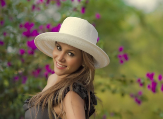 Free Girl In Garden Picture for Android, iPhone and iPad