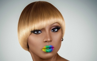 Rainbow Makeup - Obrázkek zdarma pro Samsung P1000 Galaxy Tab