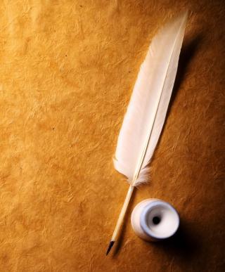 Feather And Ink - Obrázkek zdarma pro Nokia X7
