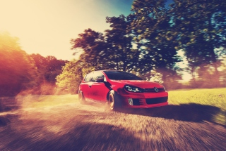Red Golf Gti Drift Background for Android, iPhone and iPad