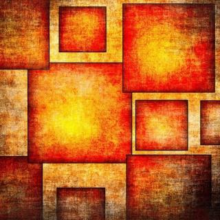 Orange squares patterns - Obrázkek zdarma pro 320x320