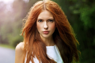 Free Beautiful Redhead Girl Picture for Android, iPhone and iPad
