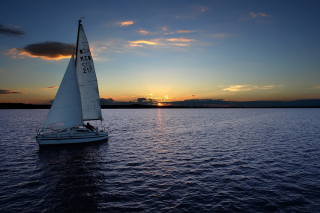 Sailboat At Sunset Picture for Android, iPhone and iPad