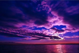 Purple Sunset Picture for Android, iPhone and iPad