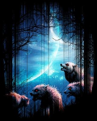 Wolverines At Night - Obrázkek zdarma pro Nokia C5-06
