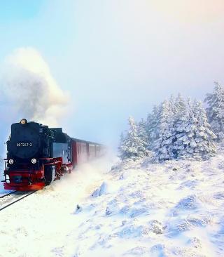 Winter Train Ride - Obrázkek zdarma pro Nokia X7