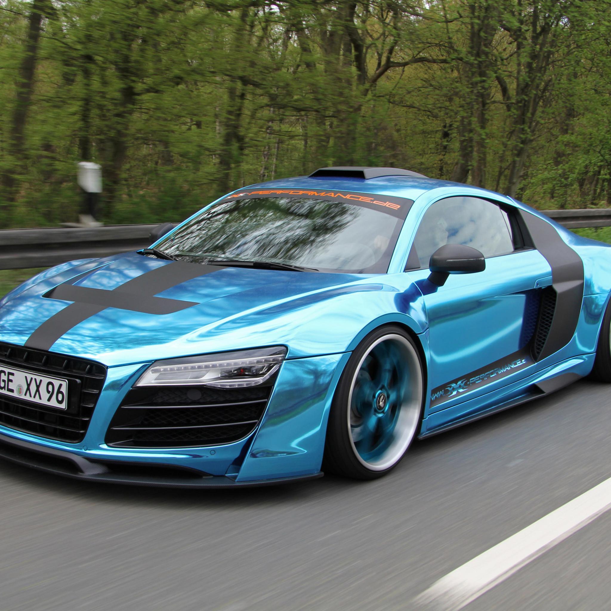 голубая Audi  № 2421729 бесплатно