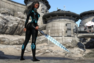 Kendra Warrior with sword Picture for Android, iPhone and iPad