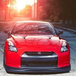 Red Nissan GTR Japanese Sport Car - Obrázkek zdarma pro 320x320