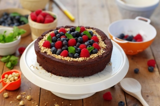 Berries Cake Wallpaper for Android, iPhone and iPad