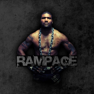 Quinton Jackson Rampage MMA fighting - Obrázkek zdarma pro 320x320