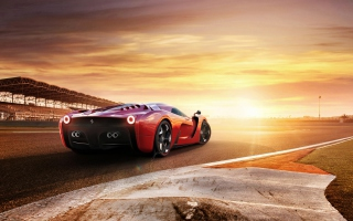 Ferrari 458 Concept Background for Android, iPhone and iPad