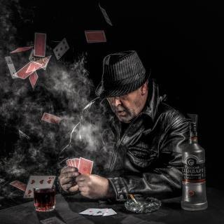 Gambler with vodka - Obrázkek zdarma pro 128x128