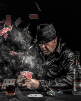 Gambler with vodka - Obrázkek zdarma pro Nokia Lumia 900