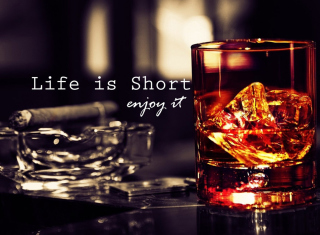 Life is short, so enjoy it Background for Android, iPhone and iPad