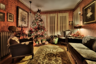 Christmas Interior Decorations Background for Android, iPhone and iPad