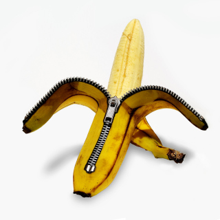 Funny banana as zipper - Obrázkek zdarma pro 1024x1024
