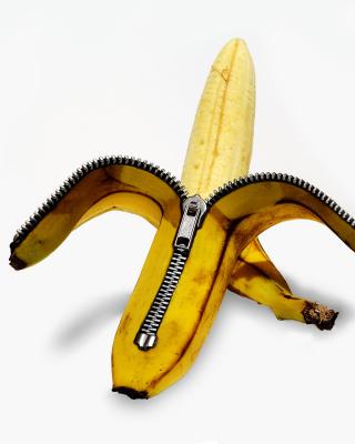 Funny banana as zipper - Obrázkek zdarma pro Nokia 206 Asha