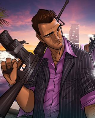 Tommy Vercetti in Grand Theft Auto Vice City - Obrázkek zdarma pro Nokia Lumia 810