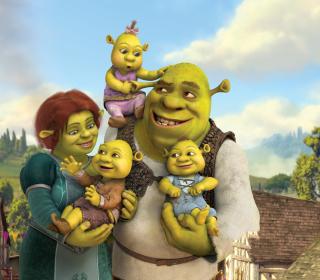 Shrek And Fiona's Babies - Obrázkek zdarma pro iPad mini