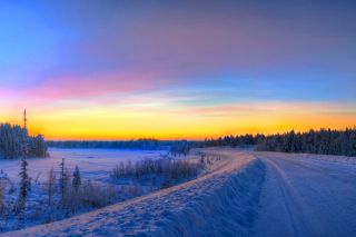 Siberian winter landscape Background for Android, iPhone and iPad