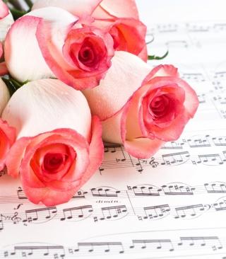 Flowers And Music - Obrázkek zdarma pro 128x160