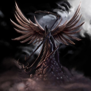 Grim Black Angel - Obrázkek zdarma pro 1024x1024