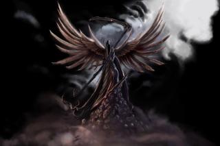 Grim Black Angel - Obrázkek zdarma pro Samsung Galaxy Note 2 N7100