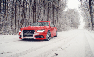 Red Audi S4 Picture for Android, iPhone and iPad