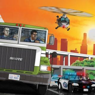 Grand Theft Auto 5 Los Santos Fight - Obrázkek zdarma pro 1024x1024