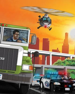 Grand Theft Auto 5 Los Santos Fight - Obrázkek zdarma pro Nokia X3
