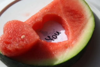 Free Watermelon Love Picture for Android, iPhone and iPad