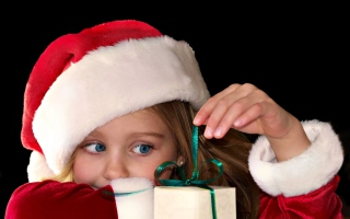Curious Santa Wallpaper for Android, iPhone and iPad
