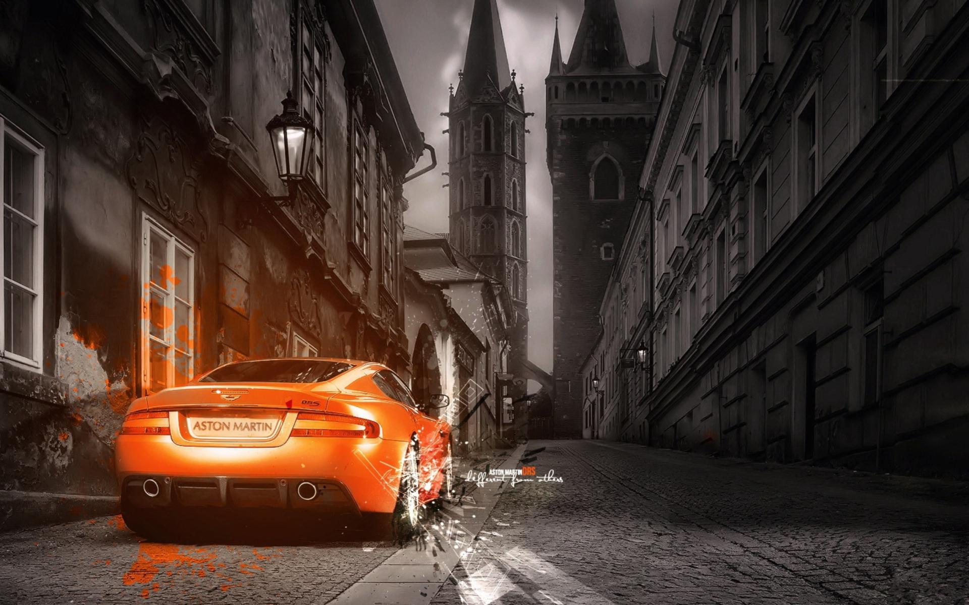 Aston Martin суперкар ночь город  № 2374779 бесплатно