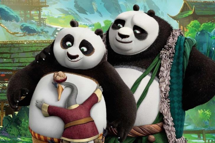 Kung fu panda family sfondi gratuiti per cellulari