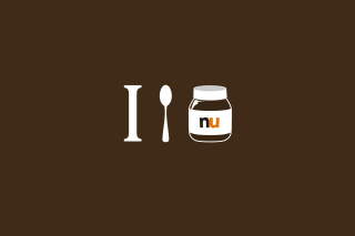 I Love Nutella Background for Android, iPhone and iPad