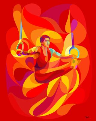 Rio 2016 Olympics Gymnastics - Obrázkek zdarma pro Nokia Lumia 920