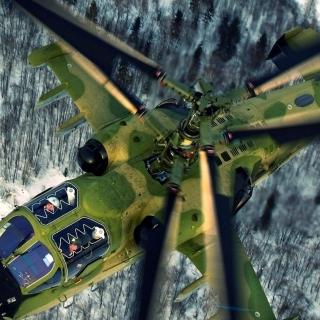 Military helicopter, Kamov Ka 50, Ka 52 Alligator - Obrázkek zdarma pro 128x128