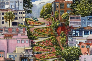 Free Lombard Street in San Francisco Picture for Android, iPhone and iPad