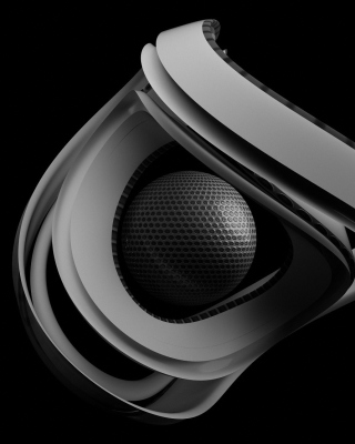 Black & White Ball - Obrázkek zdarma pro Nokia Asha 502