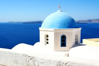 Santorini Greece Fantastic Island sfondi gratuiti per cellulari Android, iPhone, iPad e desktop