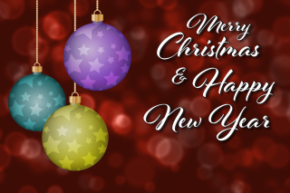 Merry Christmas and Best Wishes for a Happy New Year - Obrázkek zdarma pro 1366x768